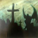 The Enochian, oil on panel, 31.4 x 31.4 cm