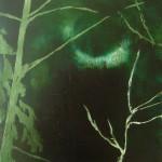 Ragnarök V, oil on MDF panel, 31 x 29 cm