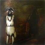 Baphomet Initium, oil on panel, 31.4 x 31.4 cm