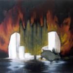 Island of the Dead (Pilgrim), oil on canvas, 40 x 50 cm