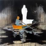 Fallen Angel, oil on canvas, 30 x 30 cm