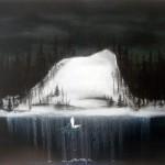 Island of the Dead (fallen angel), oil on canvas, 90 x 120 cm