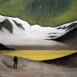A Sulphurous Dawn, oil on canvas, 90 x 120 cm