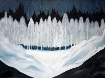 Of Ice and Movement II, oil on canvas, 90 x 120 cm