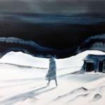 Twilight of an Idol, oil on canvas, 58 x 77 cm