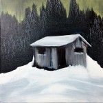 Cabin, oil on canvas, 35 x 35 cm