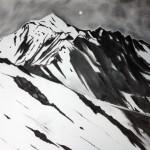 Dunkelhet I, Charcoal on paper