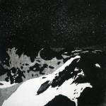 Transylvania I, akvatint etching on paper