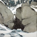 Cave, 2012, watercolored litho on paper no. 2/12, 13 x 15 cm - SOLD