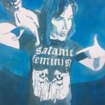 Satanic Feminist, watercolor on paper, 30 x 24 cm