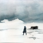 Ghaal's Cabin, 2014, watercolor on paper, 19 x 28 cm - sell price € 1200