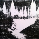 Of Ice and Movement (reversed), stone lithography on paper