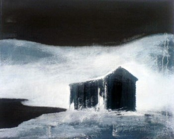 Lonely Crawls the Night, 2010, oil on canvas, 24 x 30 cm (Courtesy of Riche Stockholm Sweden)