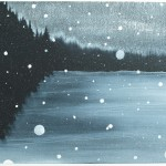 Into the Starless Night, 2009, oil on canvas, 40 x 60 cm