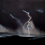 Ride the Lightning, oil on canvas, 24 x 30 cm